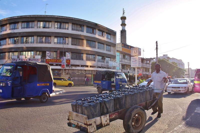 Download Pushing A Cart. Kenya. Editorial Photo - Image: 42875776