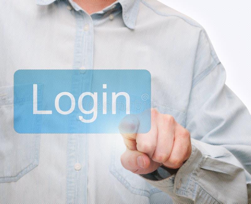 Download Pushing Login Button stock photo. Image of network, pushing - 25293088