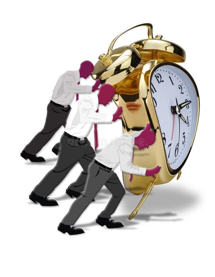 Download Pushing Time. stock illustration. Image of vintage, push - 26142817