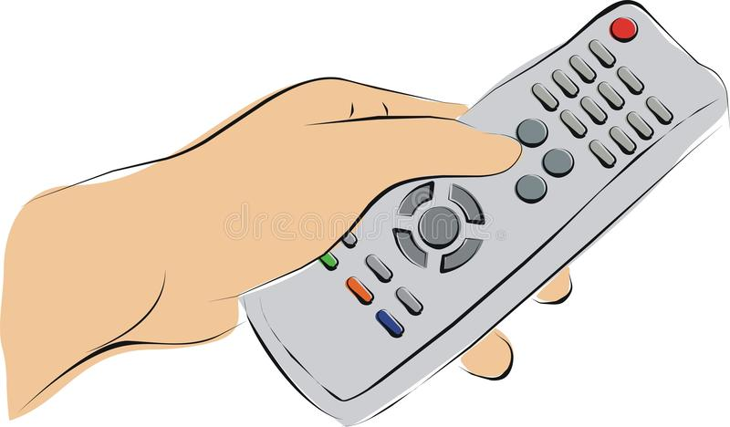 Download Pushing a TV remote stock illustration. Image of press - 21875866