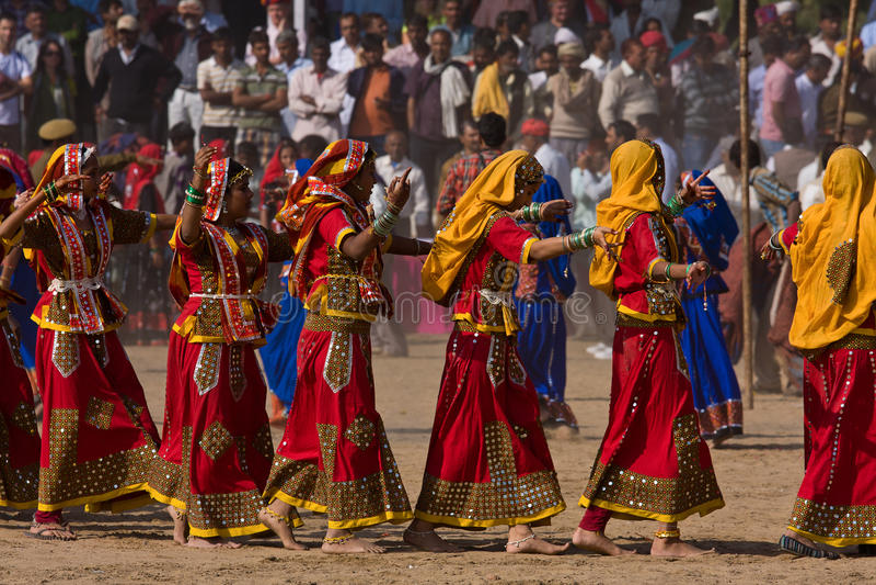 Pushkar angemessen in Pushkar, Rajasthan, Indien. lizenzfreie stockfotografie