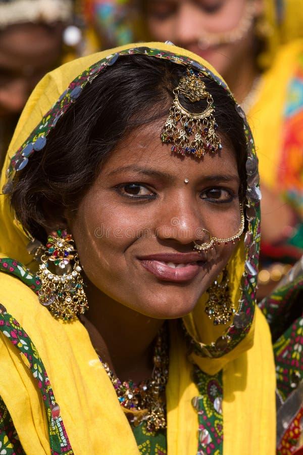 Pushkar angemessenes (Pushkar-Kamel Mela) Rajasthan, Indien lizenzfreies stockbild