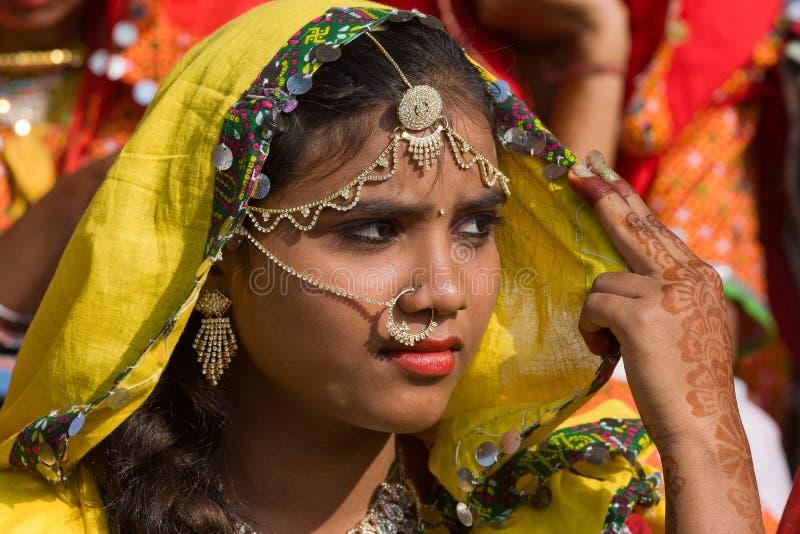 Pushkar angemessenes (Pushkar-Kamel Mela) Rajasthan, Indien lizenzfreies stockfoto
