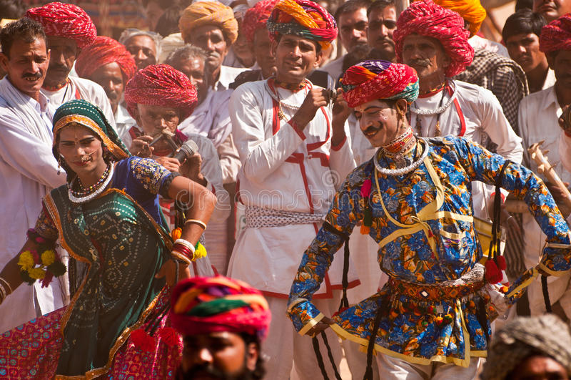 Pushkar colorido justo imagem de stock