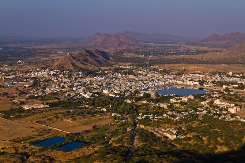 Pushkar helig stad, Rajasthan Indien royaltyfria foton