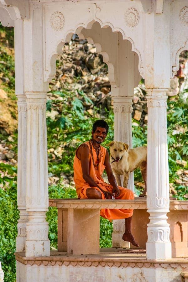 Indian Holy Man Sadhu With Long Hair Editorial Photo