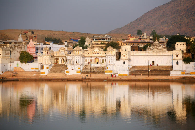 Pushkar Indien lizenzfreies stockbild