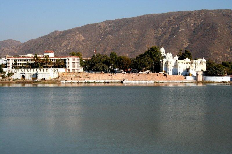 Pushkar Lake. This is the famous pushkar lake. The only place where according to Indian Mythology Brahma the Creator of the universe has his temple royalty free stock images