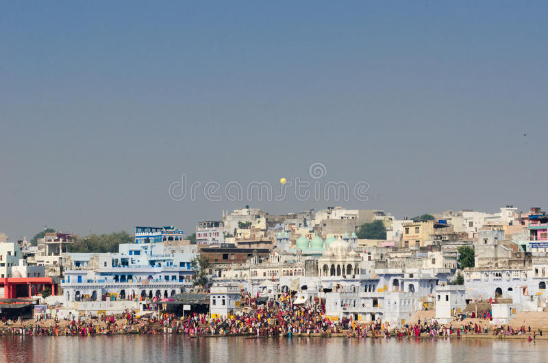 Pushkar Lake At The Time Of Pushkar Camel Fair, Rajasthan, India royalty free stock photo