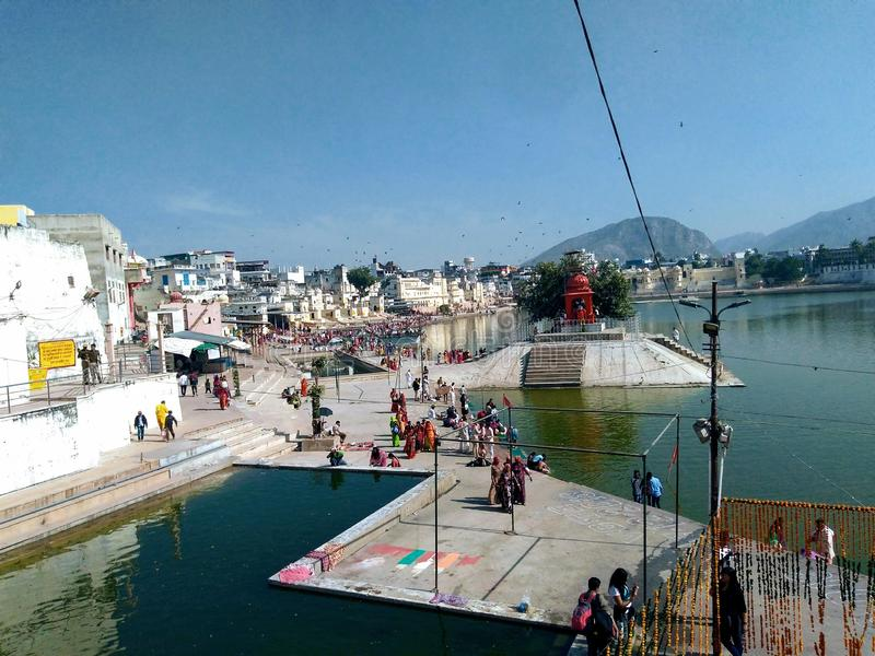 Pushkar, Rajasthan, India obraz royalty free