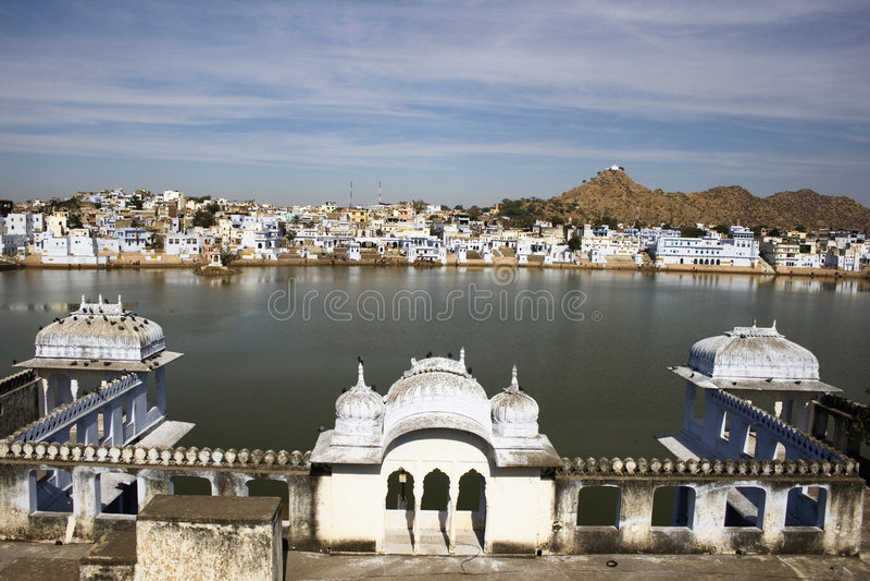 Pushkar See lizenzfreies stockfoto