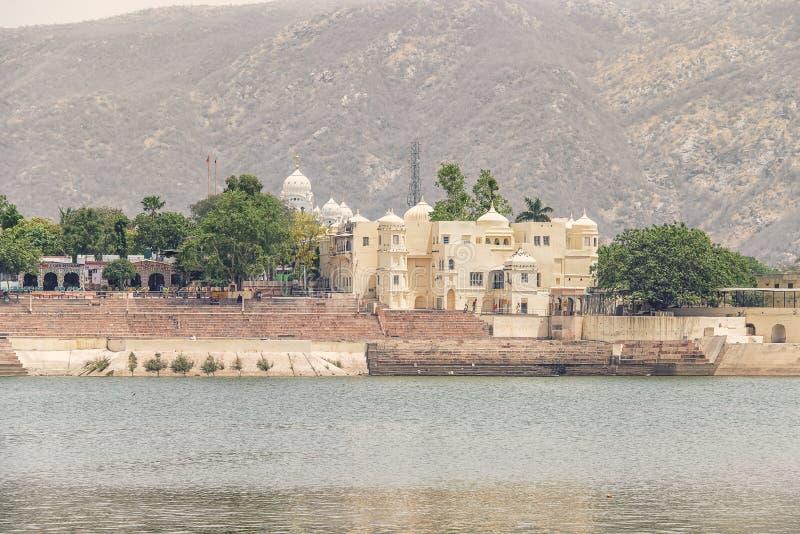 Pushkar-Stadt in der Tageszeit, Rajasthan, Indien lizenzfreies stockbild