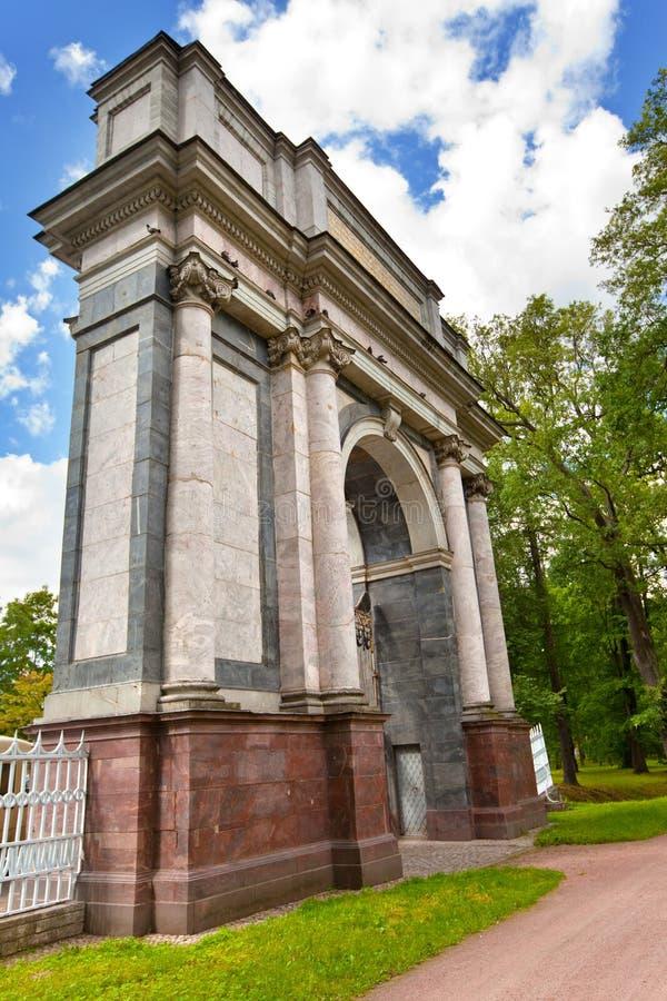 pushkin 24 för petersburg för park för nobility för km för catherine besök för tsarskoye för st för center familj tidigare imperi royaltyfria bilder