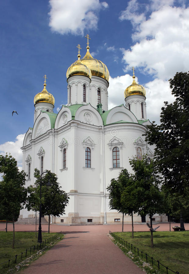 Pushkin St. Catherine's Cathedral stock photos