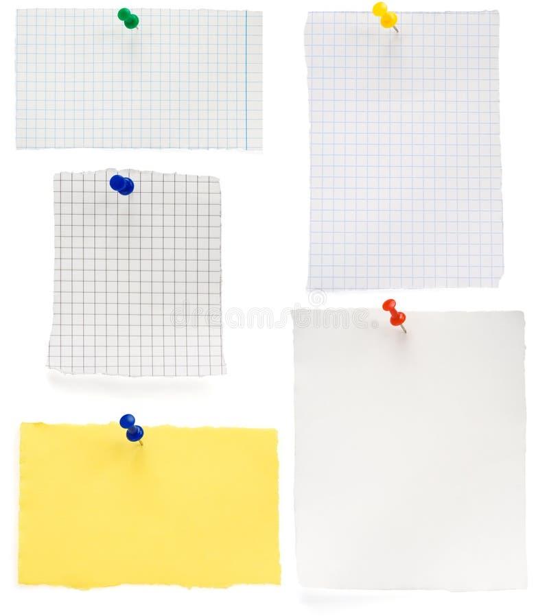 Pushpin και ελεγχμένο έγγραφο σημειώσεων στοκ εικόνες με δικαίωμα ελεύθερης χρήσης