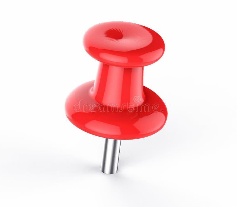 Pushpin изолированный 3D красный бесплатная иллюстрация