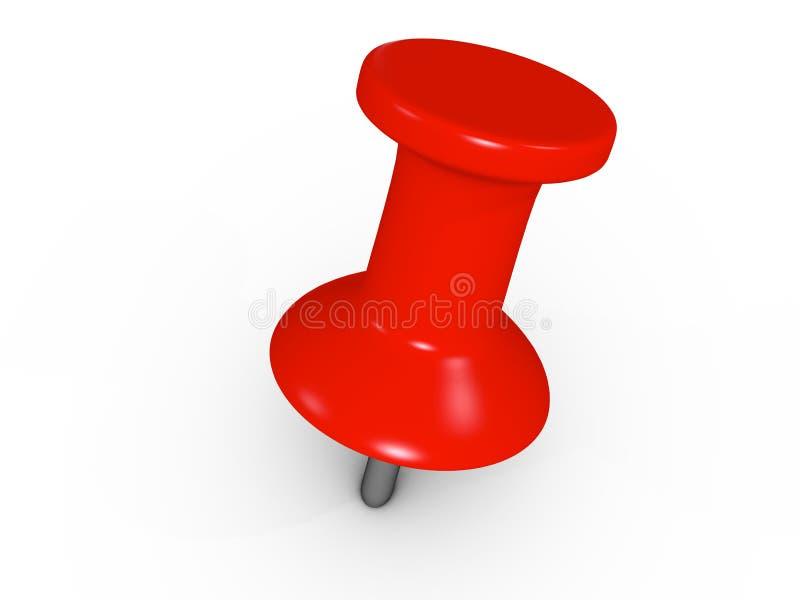 Pushpin vermelho ilustração do vetor