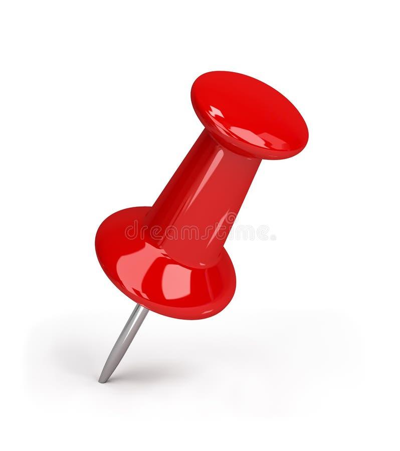 Pushpin vermelho ilustração stock