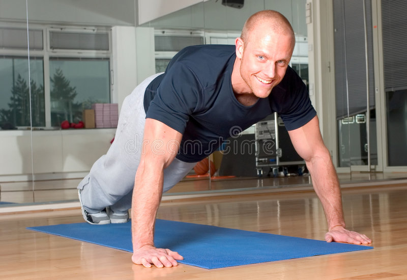 pushup royaltyfri foto