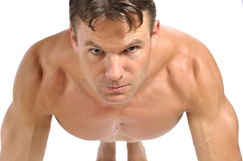 Download Pushup position stock photo. Image of buff, pushup, background - 27153440