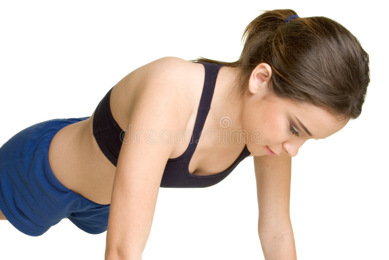 pushups γυναίκα στοκ εικόνα με δικαίωμα ελεύθερης χρήσης
