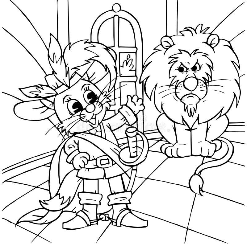 Puss nos carregadores e ogre ilustração royalty free
