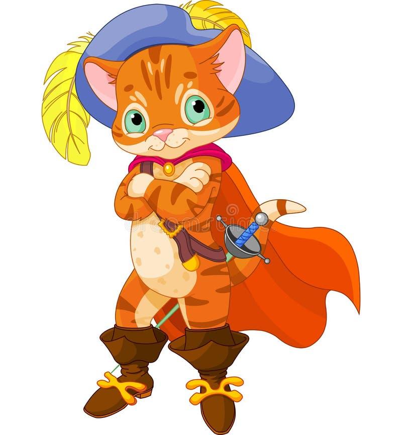 Puss w butach ilustracja wektor