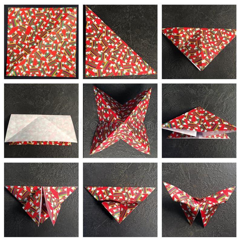 Pussel av origami royaltyfri bild