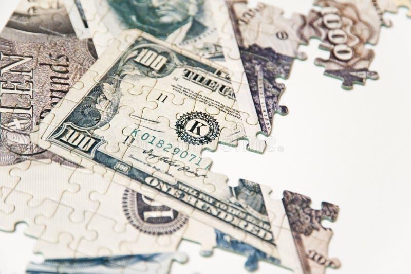 Pussel av pengar royaltyfria bilder