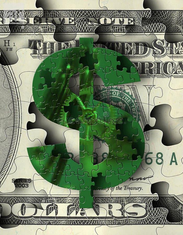 Pussel för dollartecken vektor illustrationer
