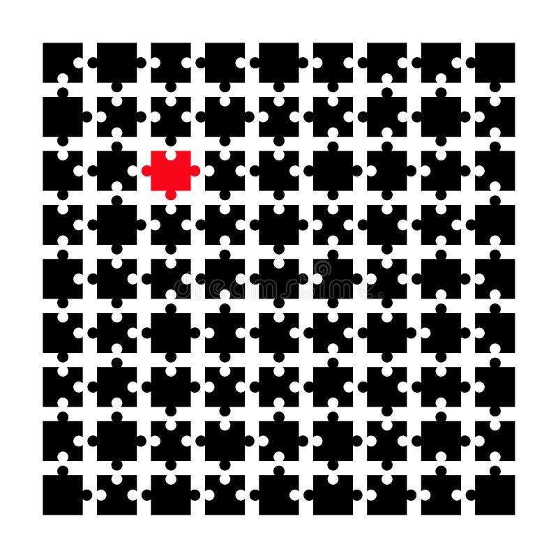 Pussel Jigsaw vektor illustrationer