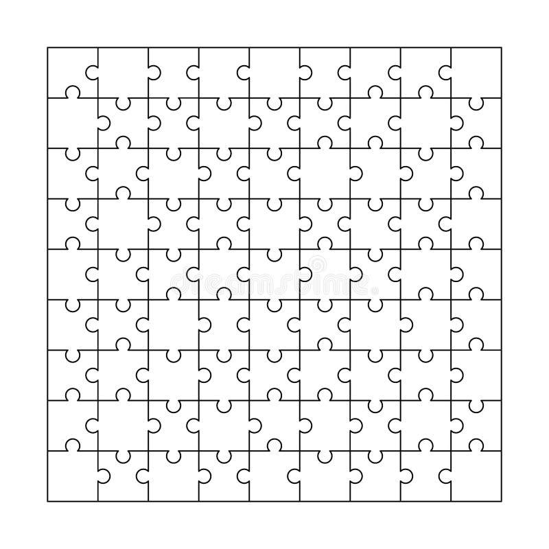 Pussel Jigsaw också vektor för coreldrawillustration stock illustrationer