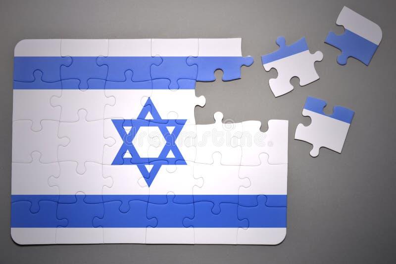 Pussel med nationsflaggan av Israel royaltyfri illustrationer