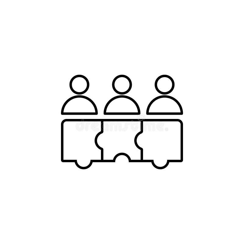 Pussel teamwork, arbetarsymbol på vit bakgrund Kan användas för rengöringsduken, logoen, den mobila appen, UI, UX stock illustrationer