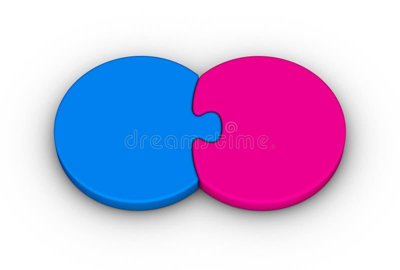 pussel två royaltyfri illustrationer
