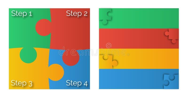 pusseldiagram för 4 färg royaltyfri fotografi