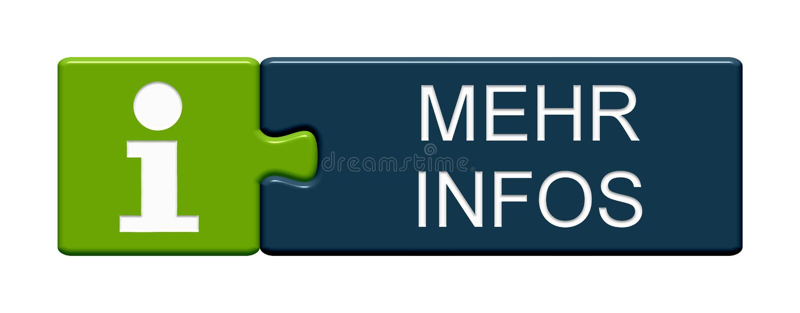 Pusselknapp: Mer informationstysk stock illustrationer