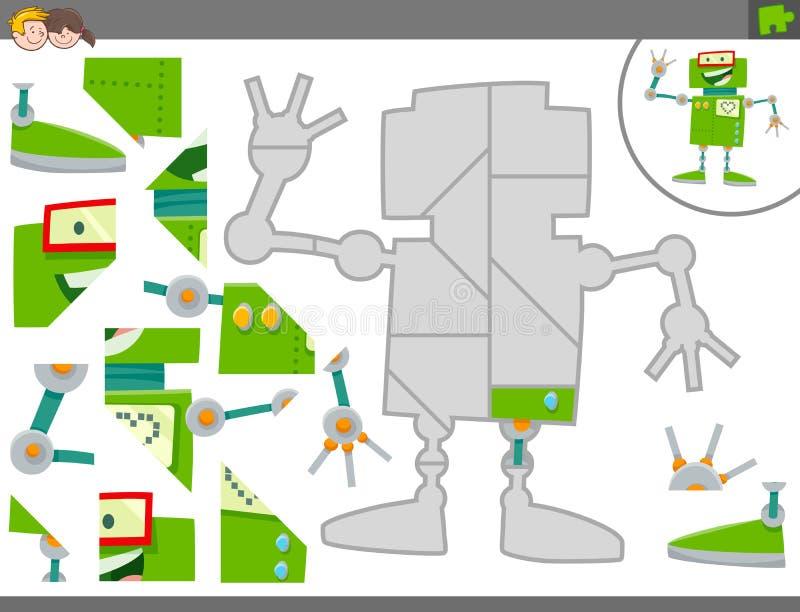 Pussellek med roboten eller android vektor illustrationer
