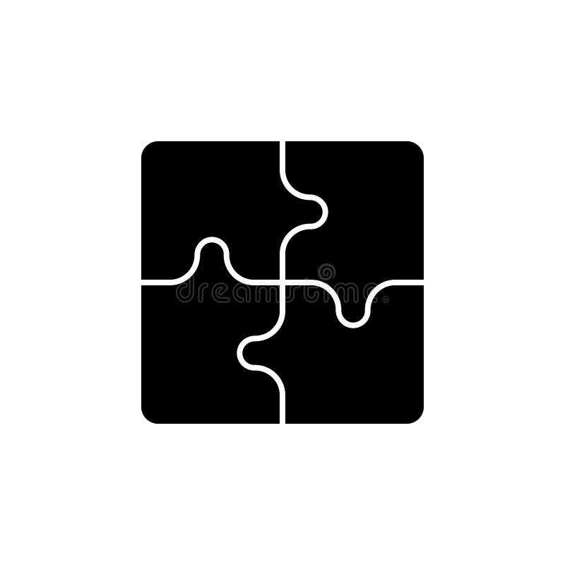 Pusselsymbol Tecknet och symboler kan användas för rengöringsduken, logoen, den mobila appen, UI, UX stock illustrationer