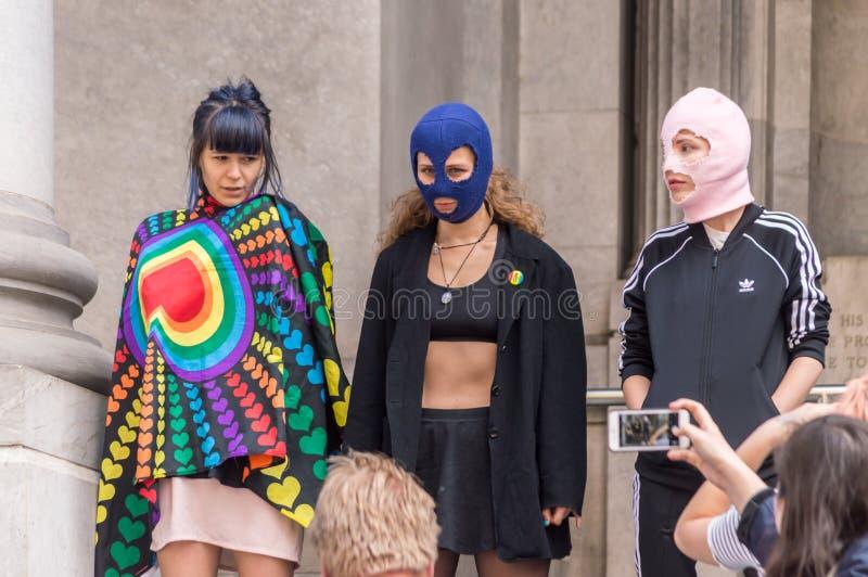 Pussy Riot 2019 stock fotografie
