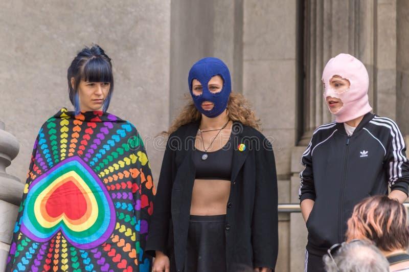 Pussy Riot 2019 stock afbeeldingen
