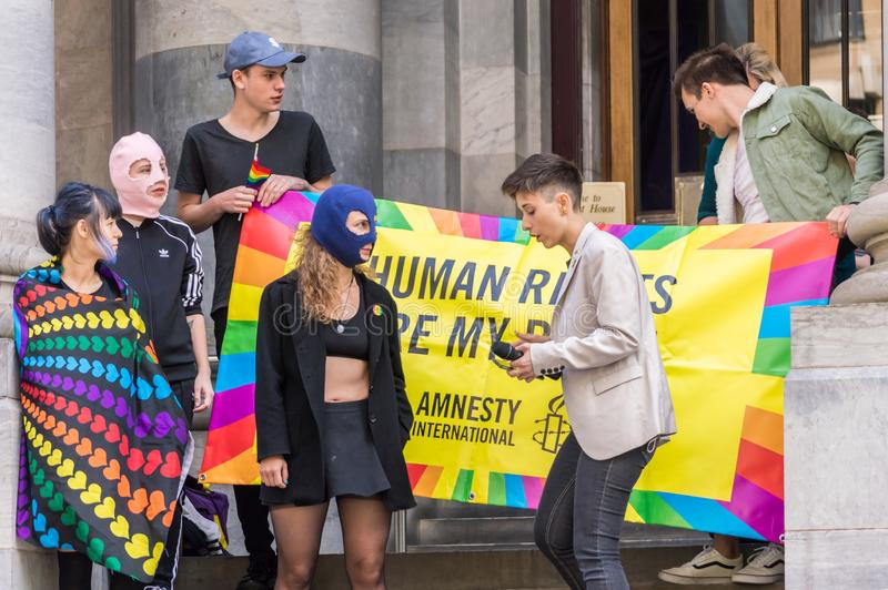 Pussy Riot 2019 stock foto
