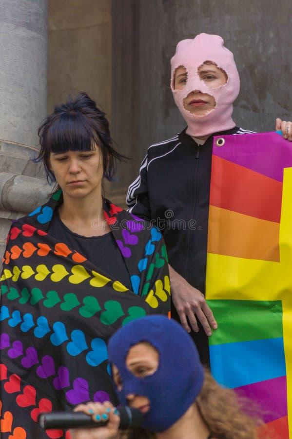 Pussy Riot 2019 royalty-vrije stock afbeeldingen