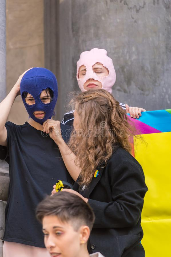 Pussy Riot 2019 royalty-vrije stock fotografie
