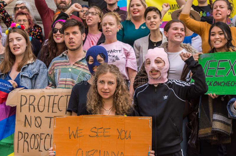 Pussy Riot 2019 stock afbeelding