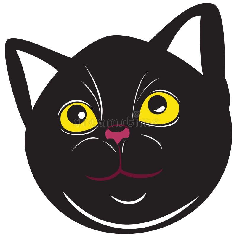 Pussycat z żółtymi oczami ilustracji