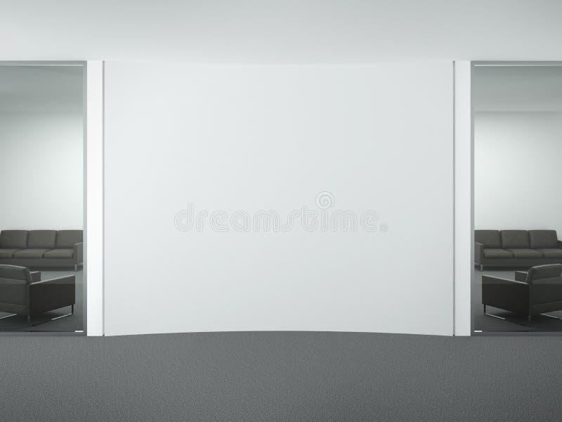 Pusta ściana w biurze ilustracja wektor