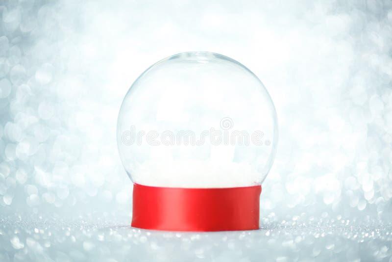 Pusta śnieżna kula ziemska obraz royalty free