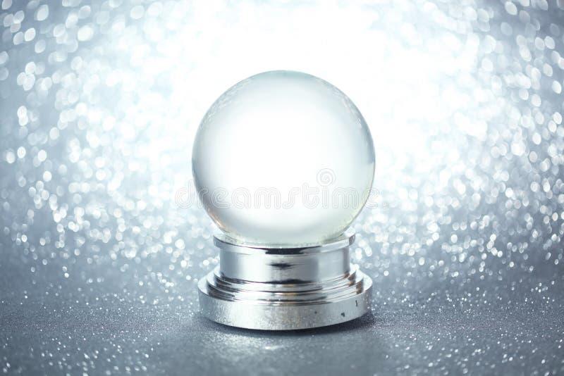 Pusta śnieżna kula ziemska zdjęcie royalty free