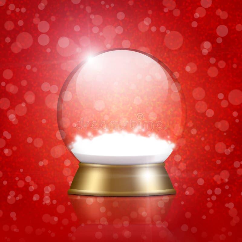 Pusta śnieżna kula ziemska royalty ilustracja